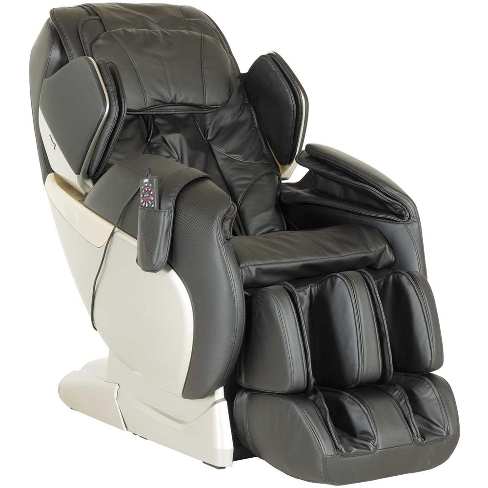BLACK 2D INTELLIGENT HEAT AND MASSAGE CHAIR